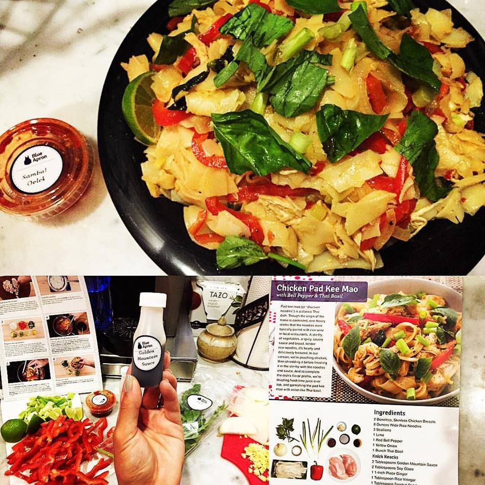 Blue apron lentil spice blend - Blueapron Chicken Pad Kee Mao With Bell Pepper Thai Basil