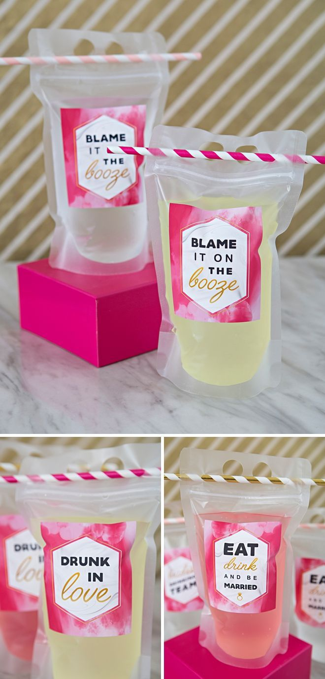 You HAVE To See These DIY Cocktail To-Go Pouches! Free Labels!
