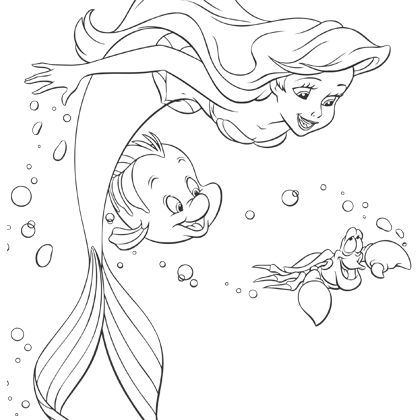 Coloriage ariel polochon diy disney drawings sketches - Dessin a colorier disney ...