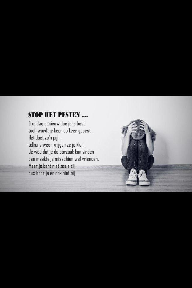 Grappige Citaten Over School : Pesten mooie teksten foto s citaten quotes