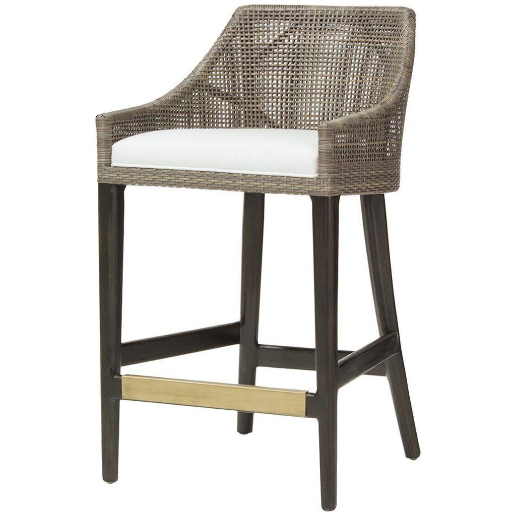 Palecek Vincent 24 Counter Stool In 2021 Rattan Counter Stools Counter Stools Furniture