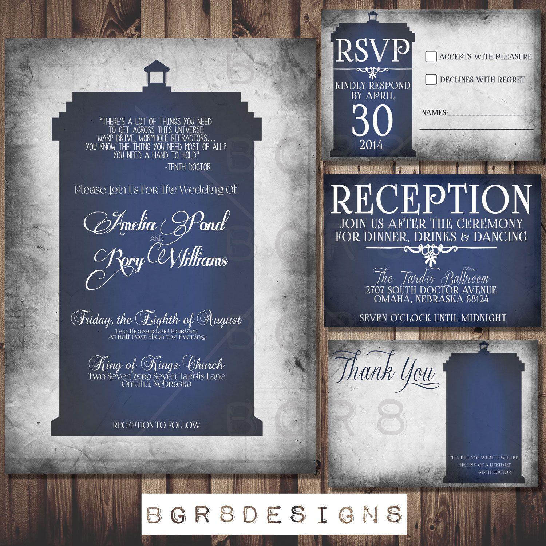 Printable geek wedding invitations