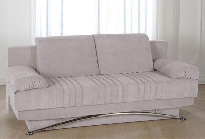 Divano letto 3 posti francese in microfibra grigio chiaro divani