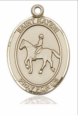 "St. Kateri / Equestrian 14kt Gold 1"""