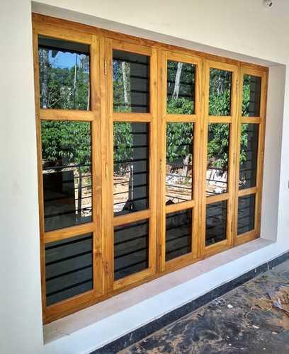 Natural Teak Wood Windows Design Customized Rs 448 40 Window Design House Window Design Wooden Window Design