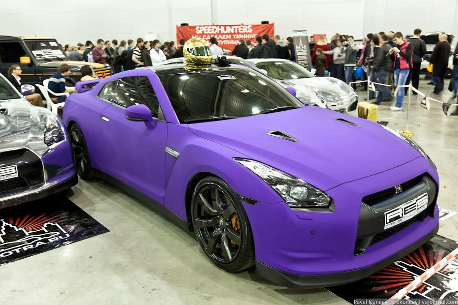 Nissan GT R Matt Purple