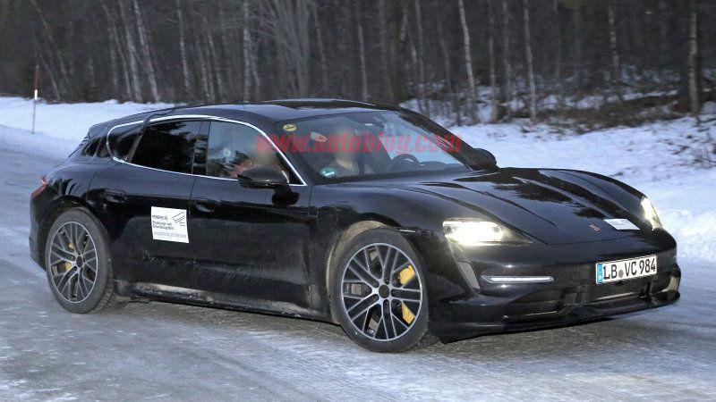 Porsche Taycan Corss Turismo Spied Missing Most Its Camouflage Porsche Taycan Porsche Turismo