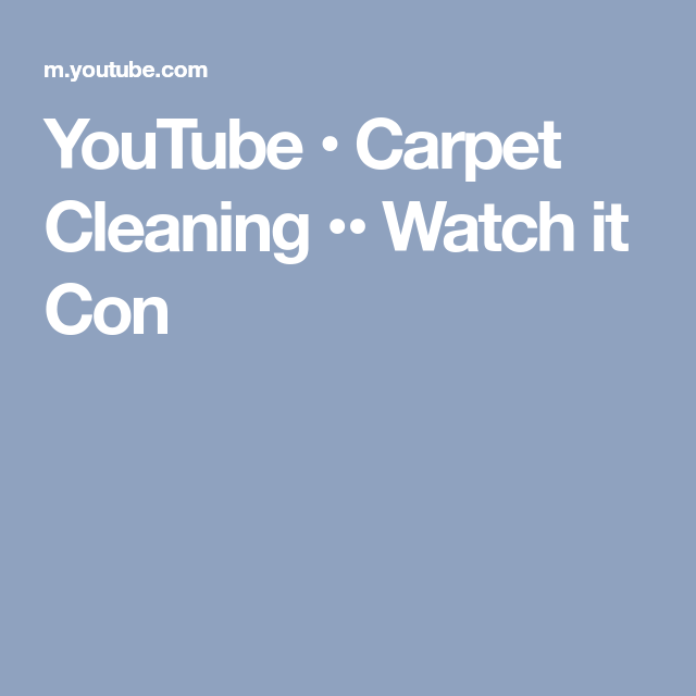 Referral Cleaning Restoration: YouTube • Carpet Cleaning •• Watch It Come Clean B4 Your