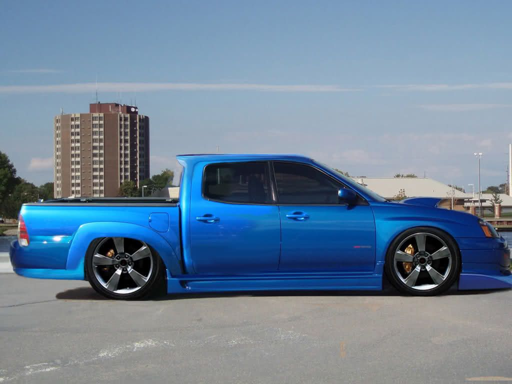 Photoshop Custom Slammed 4 Door Toyota Tacoma Cab And Bed With A Subaru Wrx Front End And Windshield Subaru Wrx Toyota Tacoma Windshield