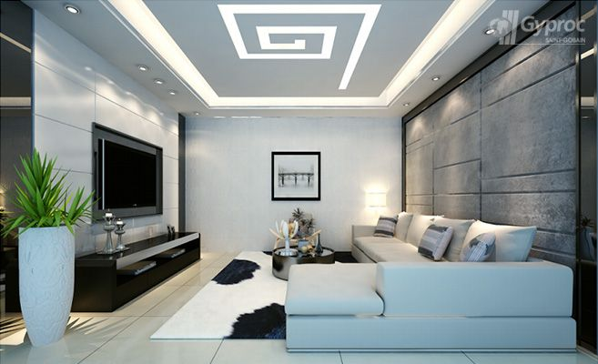 false ceiling drywall saint gobain gyproc india living room in rh pinterest com
