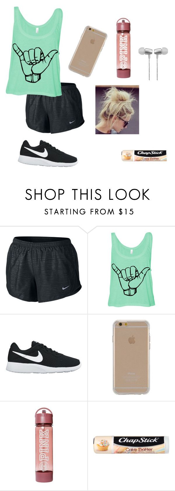 """""""Untitled #13"""" by jocelynmarieb ❤ liked on Polyvore featuring NIKE, Agent 18, Chapstick and Cynthia Rowley"""