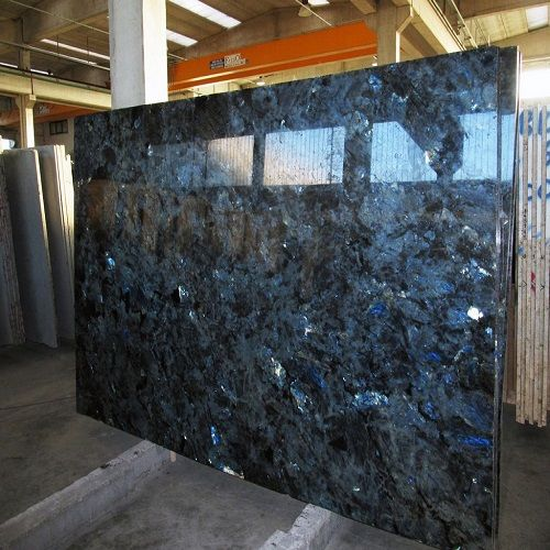 High Polished Lemurian Blue Granite Slab For Wall Decoration Countertop Worktop Hall Flooring