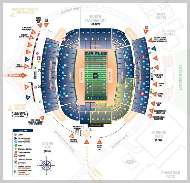 Jordan hare gate seating map things to know on gamedays