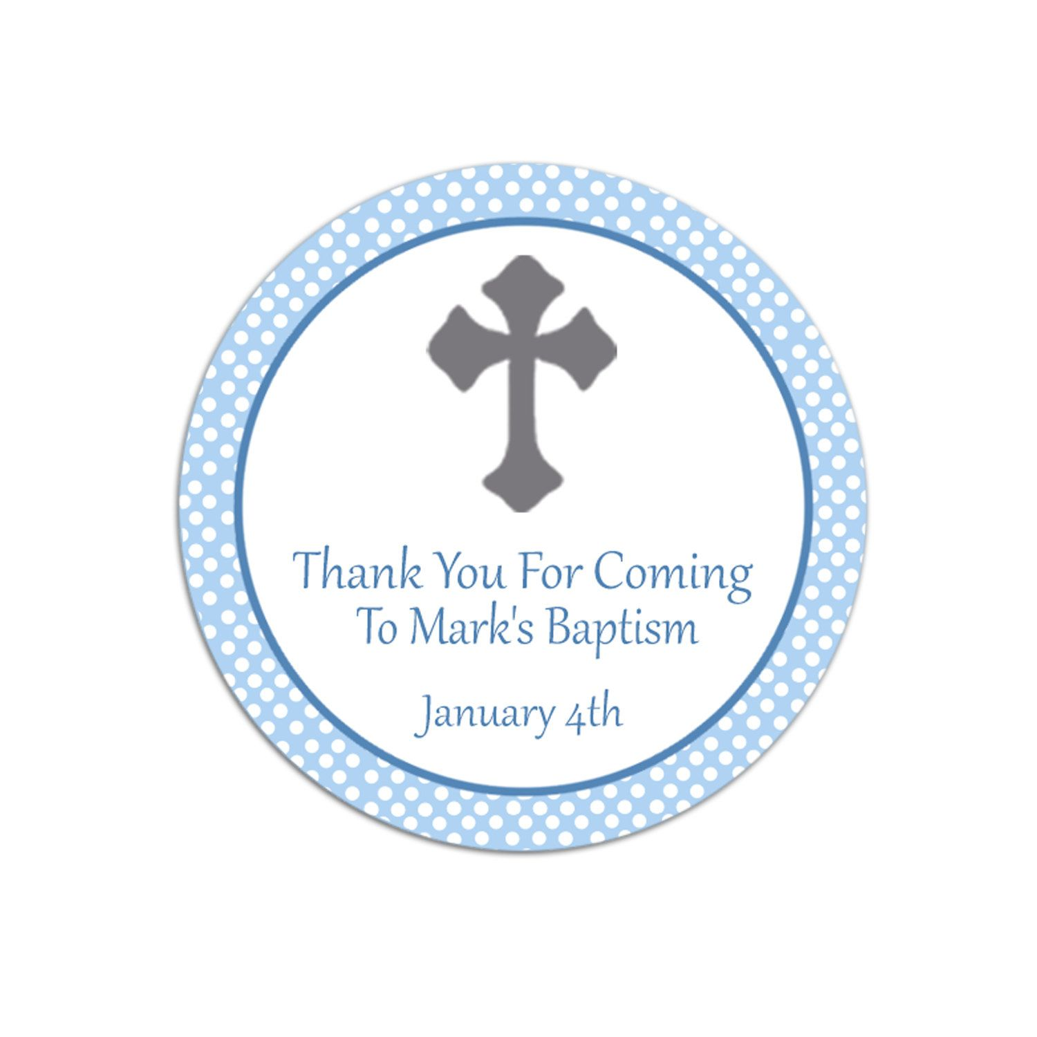Personalised Christening Thank You Tags