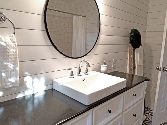 Guest Bathroom Complete Remodel Modern Farmhouse Bathroom Modern - Is it hard to remodel a bathroom
