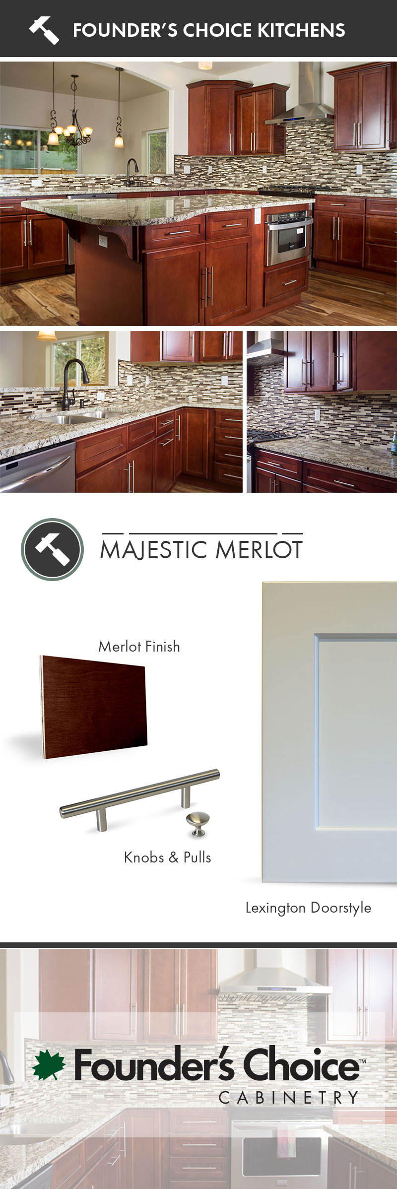 The Majestic Merlot Kitchen features the rich coloring of ...