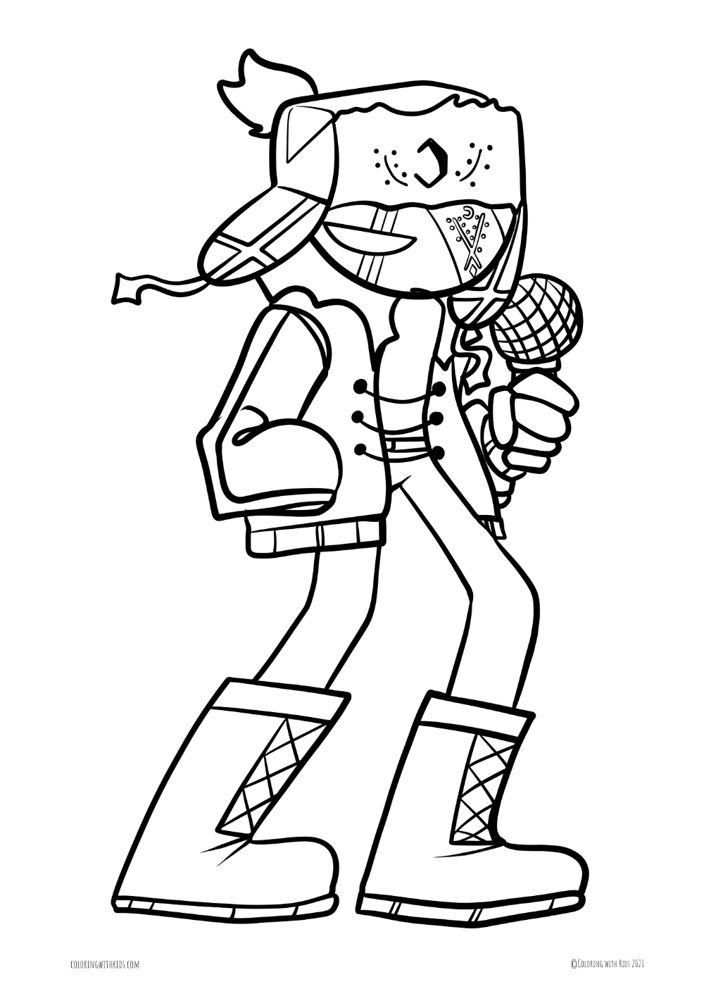 Pin On Friday Night Funkin Coloring Pages