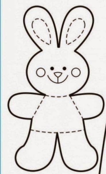 Molde para hacer conejitos de fieltro | souvenirs | Pinterest ...