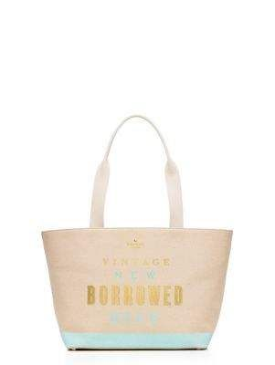 vintage new borrowed blue tote - kate spade new york - how cute is this @kellsfran!