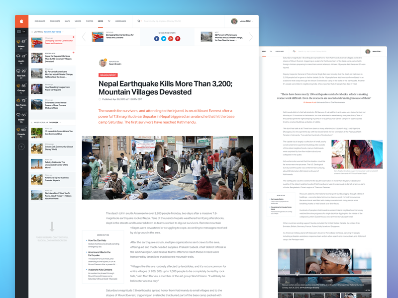 News Article Page Web Layout Design Web Design Inspiration News Articles