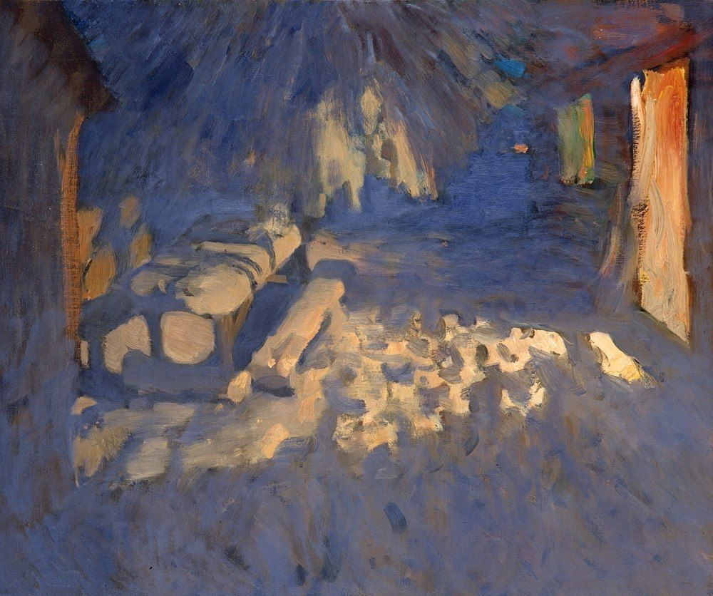 Bato Dugarzhapov Snow Lit By Doorway At Night Art Painting Painting Artist Inspiration