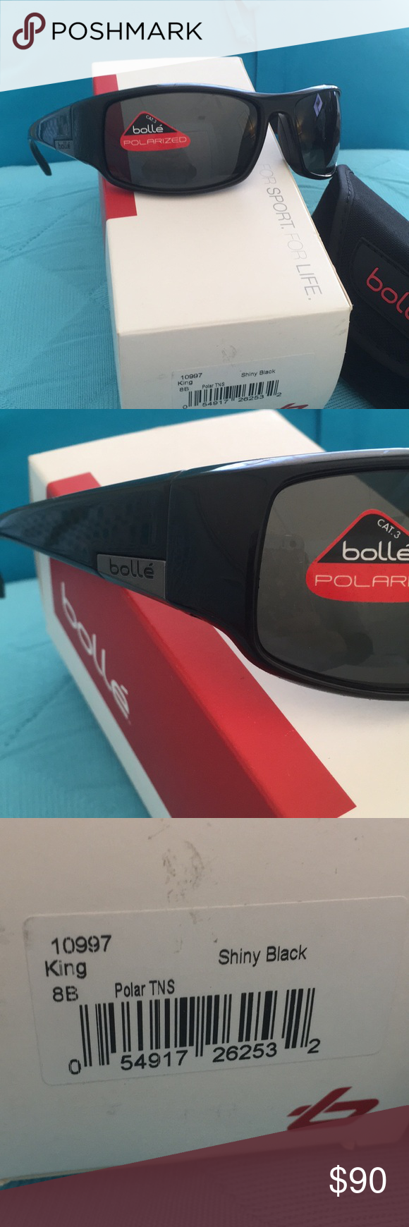 ceb28d8a49 Bolle King Polarized Sunglasses Shiny Black NWT NWT Bolle King Polarized  Sunglasses Shiny Black NWT from a store I closed My loss your gain Super  Fast ...