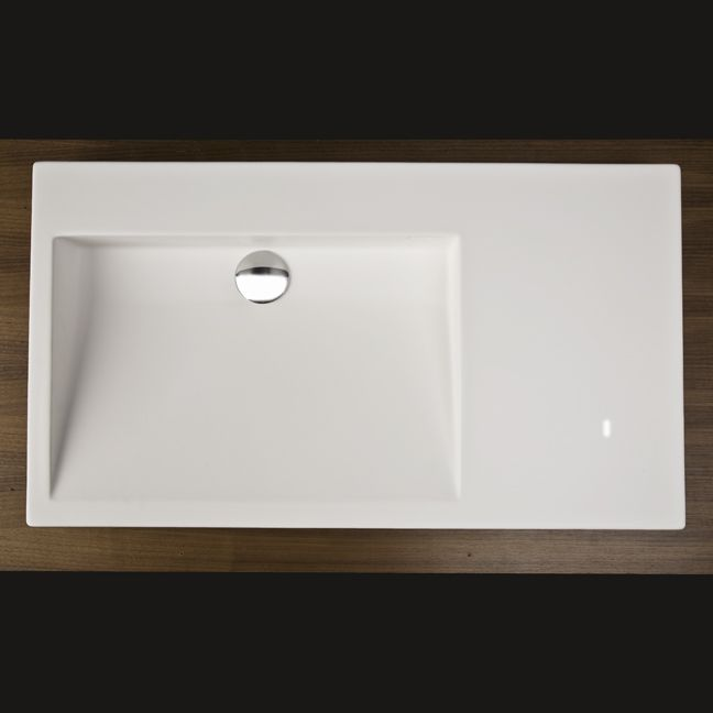 bathroom sink top view. Incredible Lacava 5101 Luce Solid Surface Vanity Top With An Overflow Bathroom Sink Designs View B