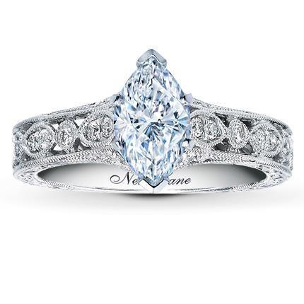 Neil Lane Ring Setting 1 4 Ct Tw Diamonds 14K White Gold