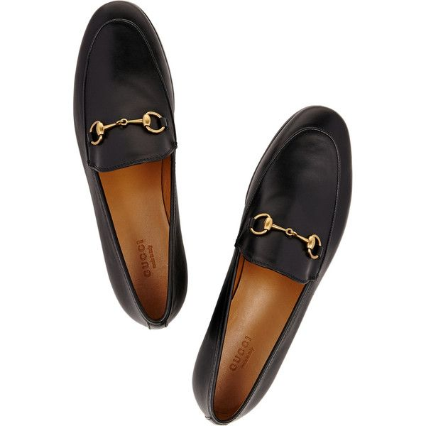 7e30129fbb2c Gucci Horsebit-detailed leather loafers ( 740) ❤ liked on Polyvore  featuring shoes