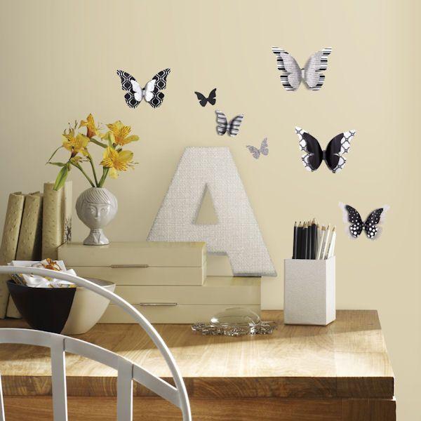 3D Butterflies Peel And Stick Wall Decals   Wall Sticker Outlet
