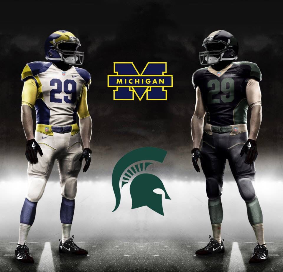 My Michigan V Michigan State Concept Gameday Outfit Football Helmets Football