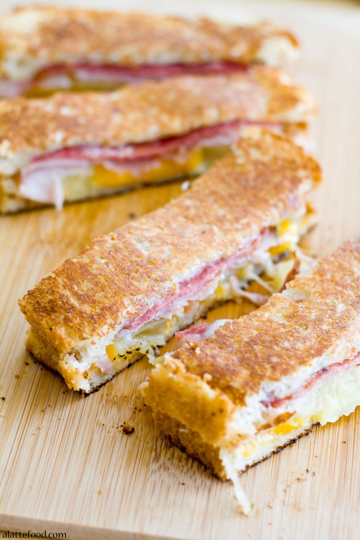 Hawaiian Grilled Cheese: Thesegrilled cheese dippers have comfort written all over them!  Sundays were made for things like chocolate cake, cheesy pizza, all the coffee lattes, and major relaxati…