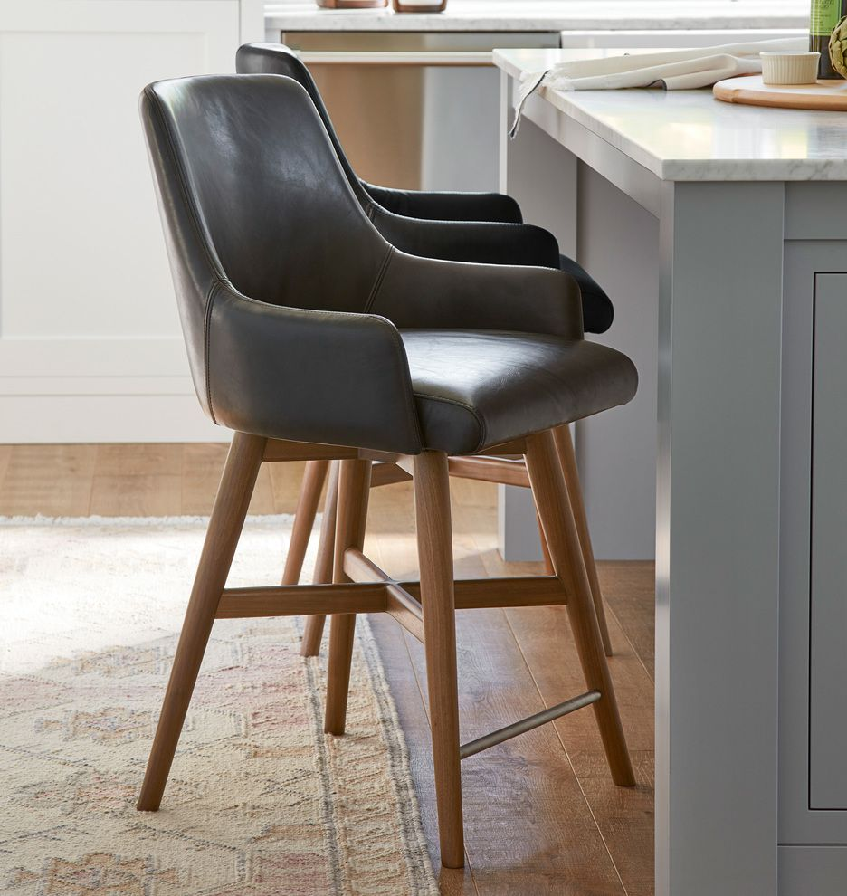 Tan Leather Weave Bar Stool With Back 65cm Woven Bar Stools
