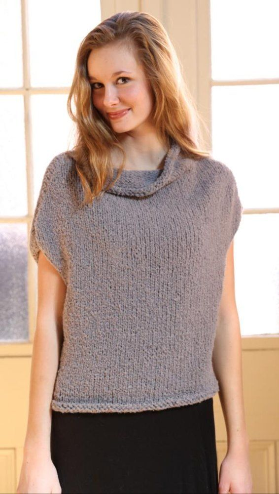 Shell Top in Plymouth Yarn Arequipa Boucle - 3140 ...