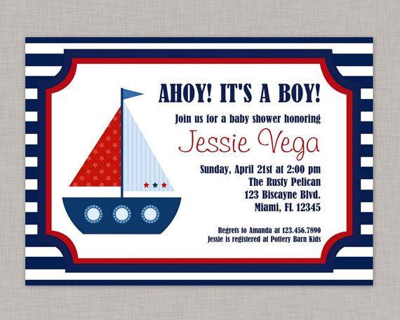 Nautical Baby Shower Invitation Printable DIY