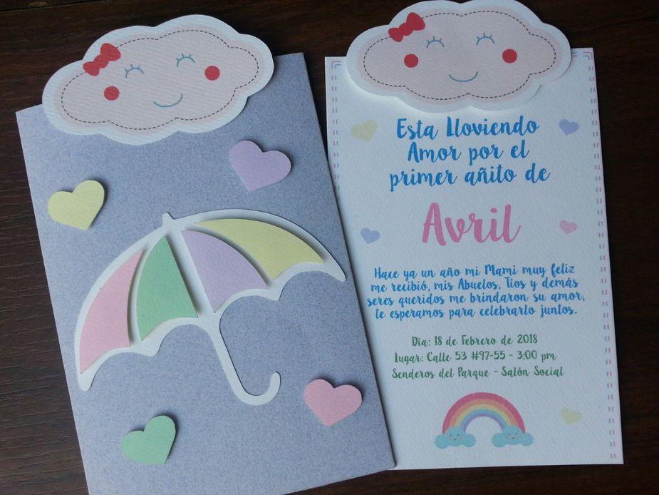Tarjeta Invitación De Cumpleaños Baby Shower Esta