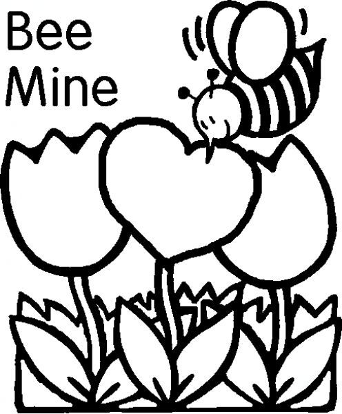Popular Coloring Pages Of Valentines Day