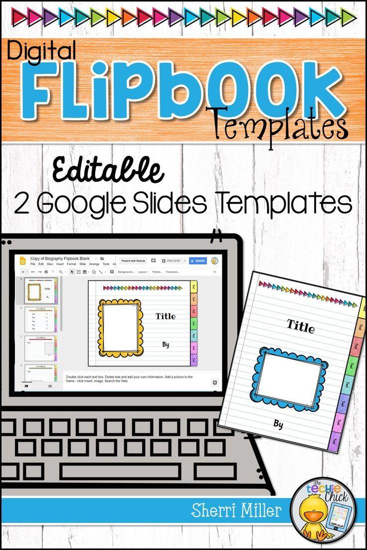 editable digital flipbook google slides templates education 1