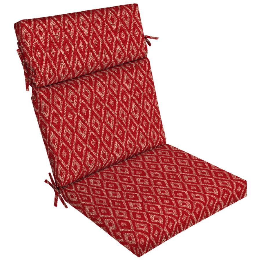 Garden Treasures Geometric High Back Patio Chair Cushion For High