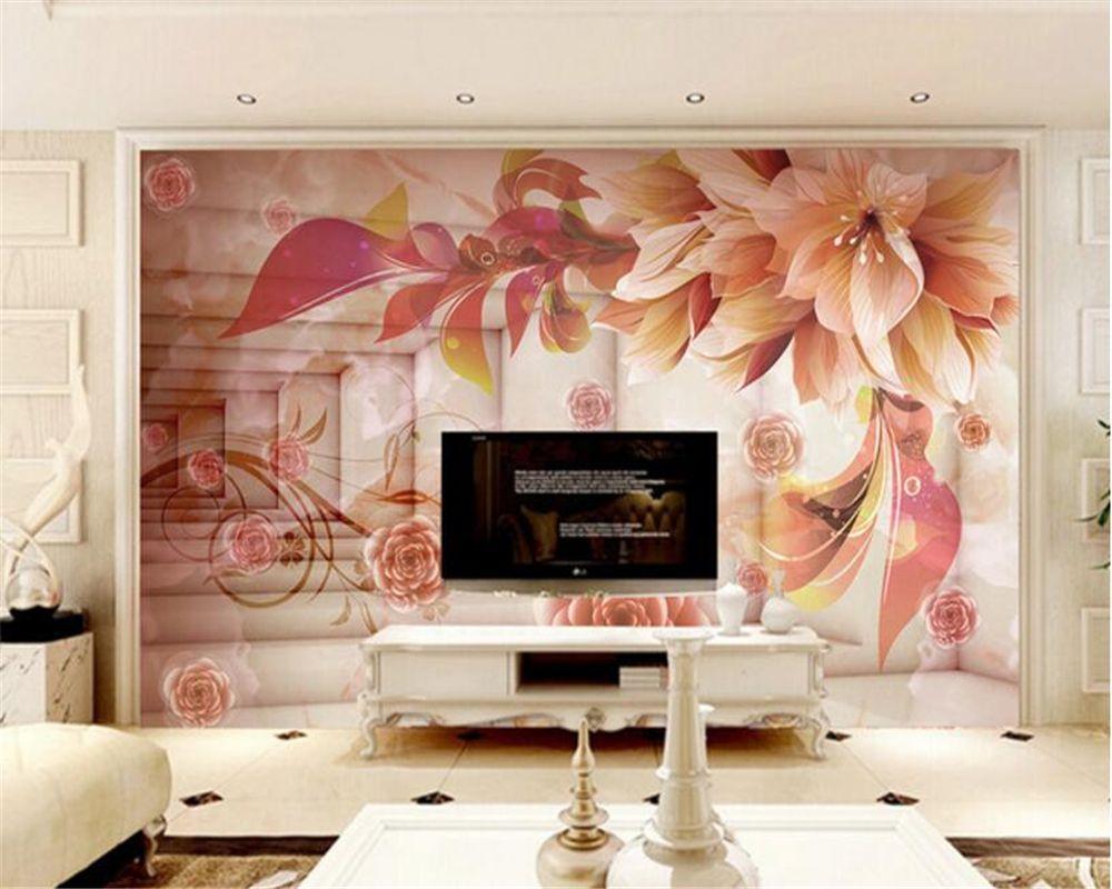 Beibehang 3d Wallpaper Hd 3d Dream Flower Space Exten