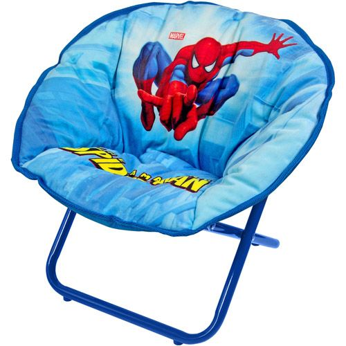Spider Man Mini Saucer Chair Home Boy Toddler Bedroom