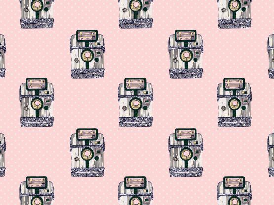 """Playful Polaroid"" by LadyLiberatore Playful, camera, dot, pictures, polaroid, polka"