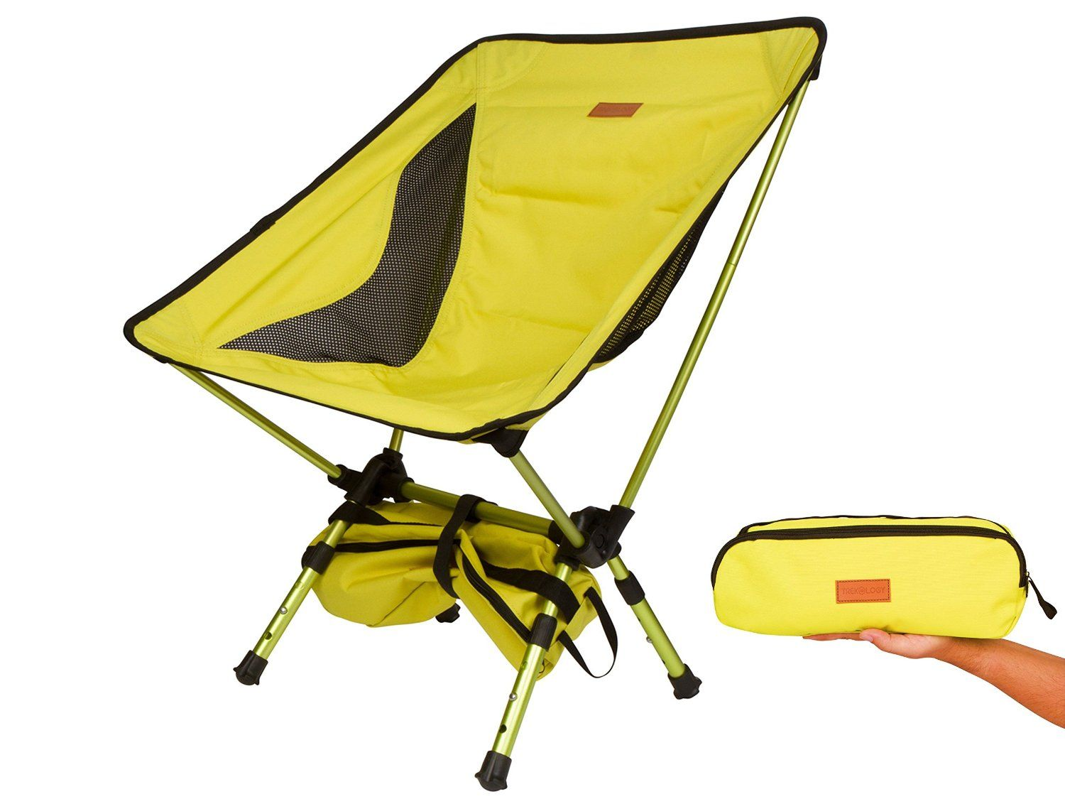 Jerry chair backpacking - Trekology Compact Portable Camping Chair With Adjustable Height Ultralight Backpacking Chair In A Bag For