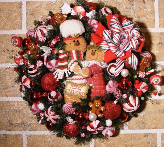 Gingerbread wreath   Navidad De galletas   Pinterest   Gingerbread ...