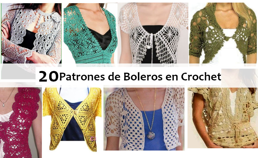 Hermosa Patrón De Crochet Libre De Bolero Fotos - Manta de Tejer ...