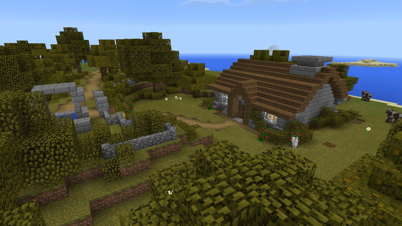 Quick island renovation (More inside) | Minecraft houses ...