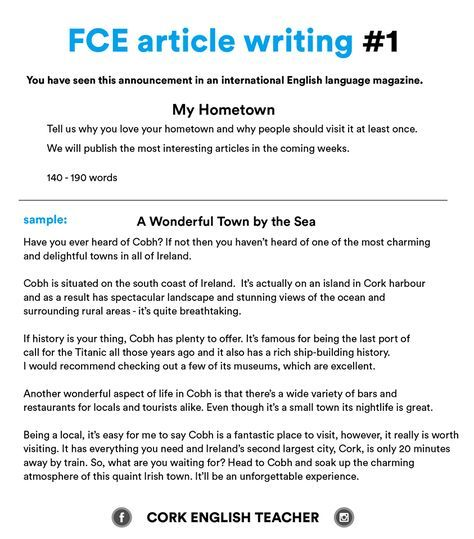Fce Exam Writing Samples  My Hometown  Writting  Pinterest  Fce Exam Writing Samples  My Hometown