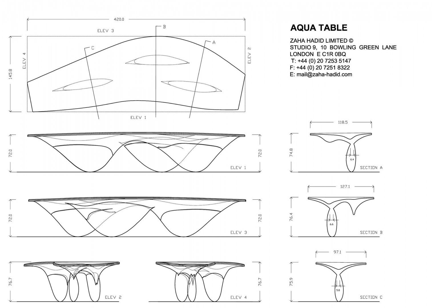 Zaha Hadid Drawing Techniques Aqua Table - Design - ...