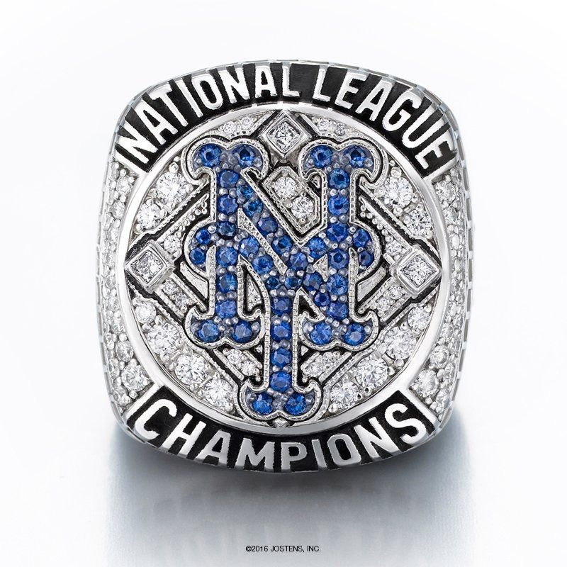 2015 National League Championship Ring Championship Rings Lets Go Mets National League