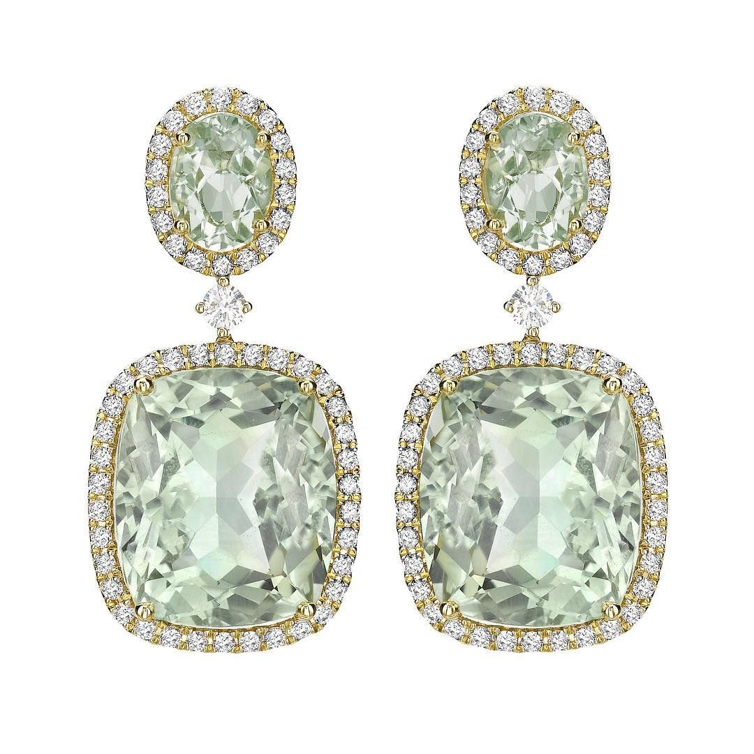 vermeil these in rose gemstone a green amethyst earrings luminous gold